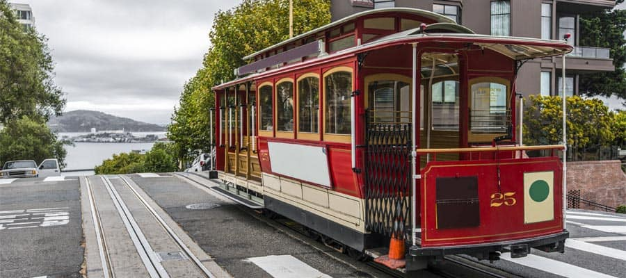Take a cable car ride when you cruise to San Francisco