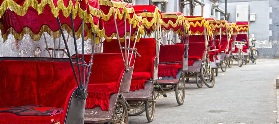 Colourful Asian rickshaws on your Asia cruise