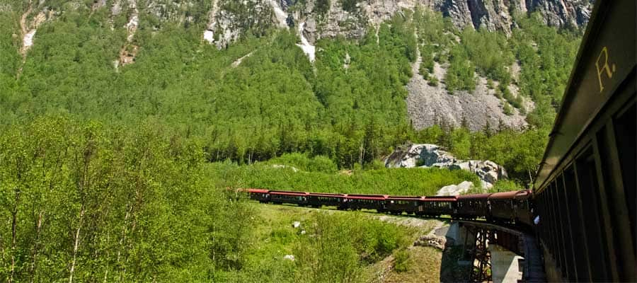 Alaskan Railroad on a Skagway cruise