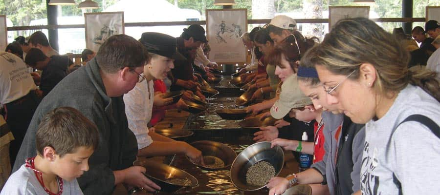 Gold Panning on an Alaska cruise