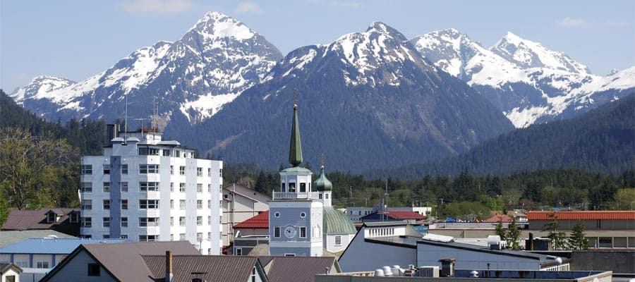The view of Sitka downtown