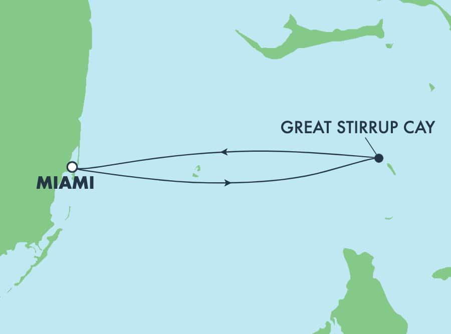 Las Bahamas desde Miami:Great Stirrup Cay,3 días