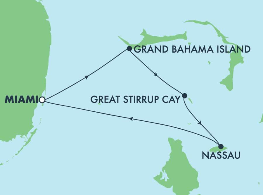 4-Day Bahamas Round-trip Miami: Great Stirrup Cay, Nassau & Grand Bahama Island