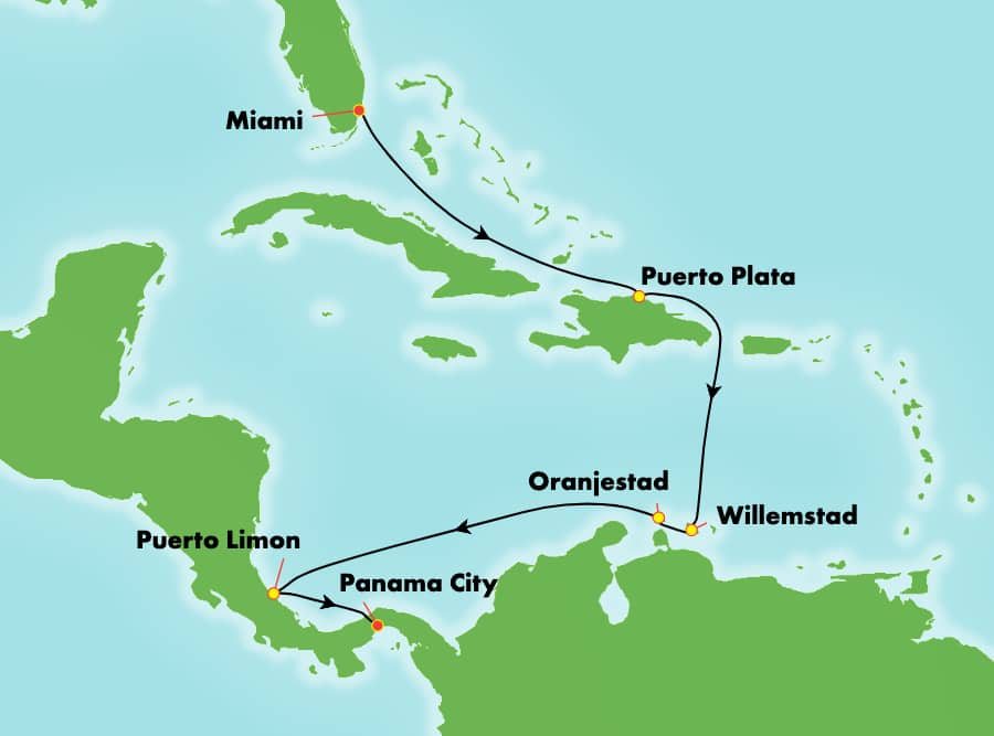 9-Day Panama Canal from Miami to Panama City: Curacao & Aruba