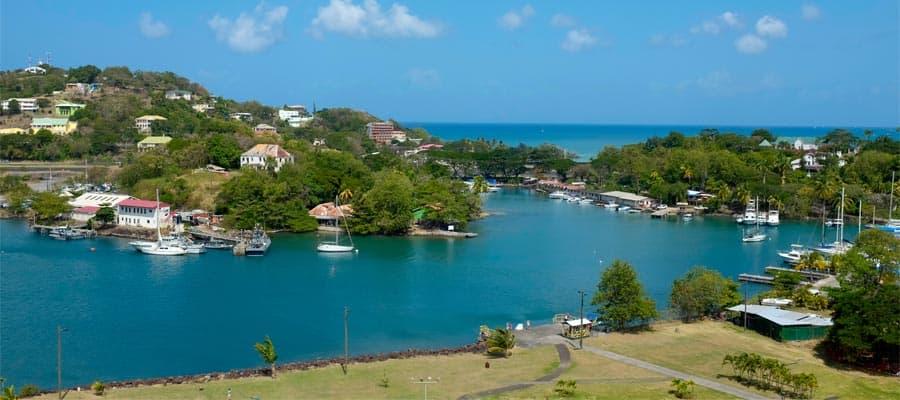 Castries, Santa Lucía en tu crucero por el Caribe
