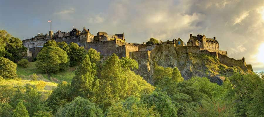 Stunning Castles in Scotland on your Europe cruise