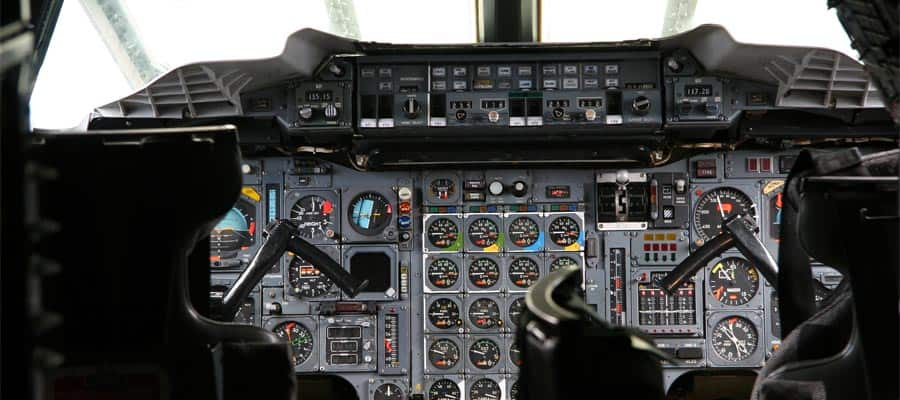 Cockpit of the now retired Concorde