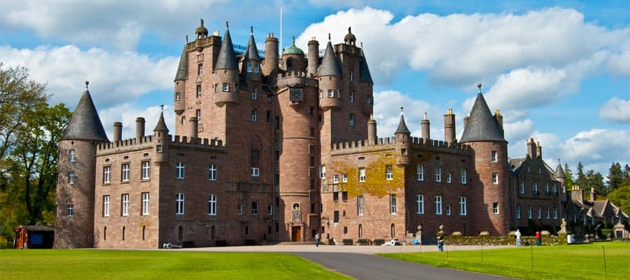 Glamis Castle in the highlands of Scotland