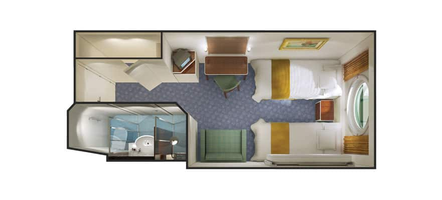 Floor plan Family Oceanview Porthole