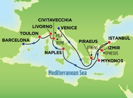 12-Day Grand Mediterranean, Venice to Barcelona