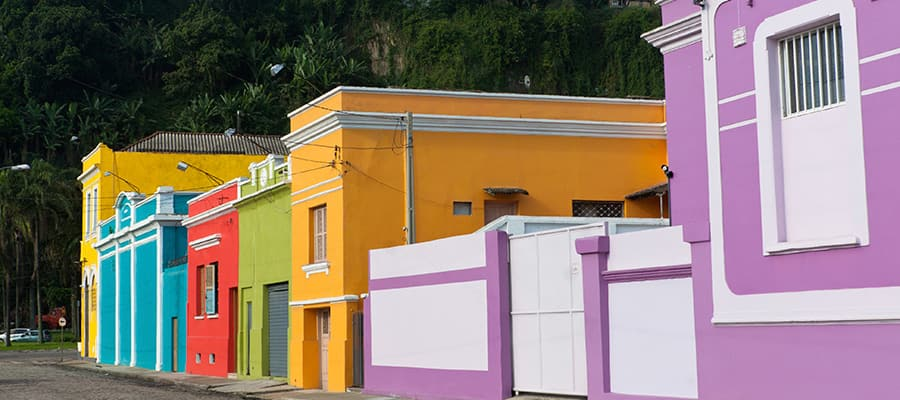 Colourful streets of Brazil on cruises to Sao Paolo (Santos)