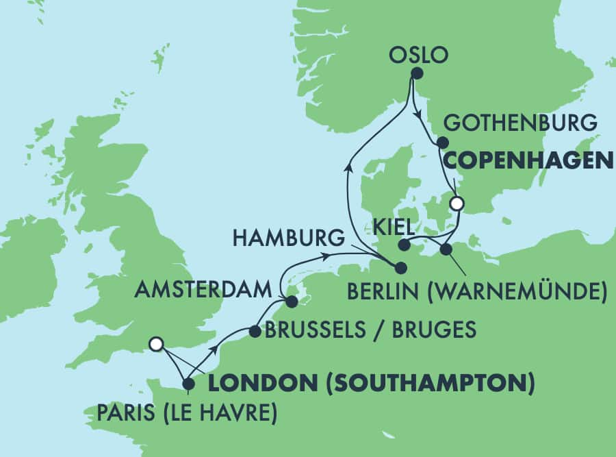 9-Day Scandinavia, Russia & Baltic from Copenhagen