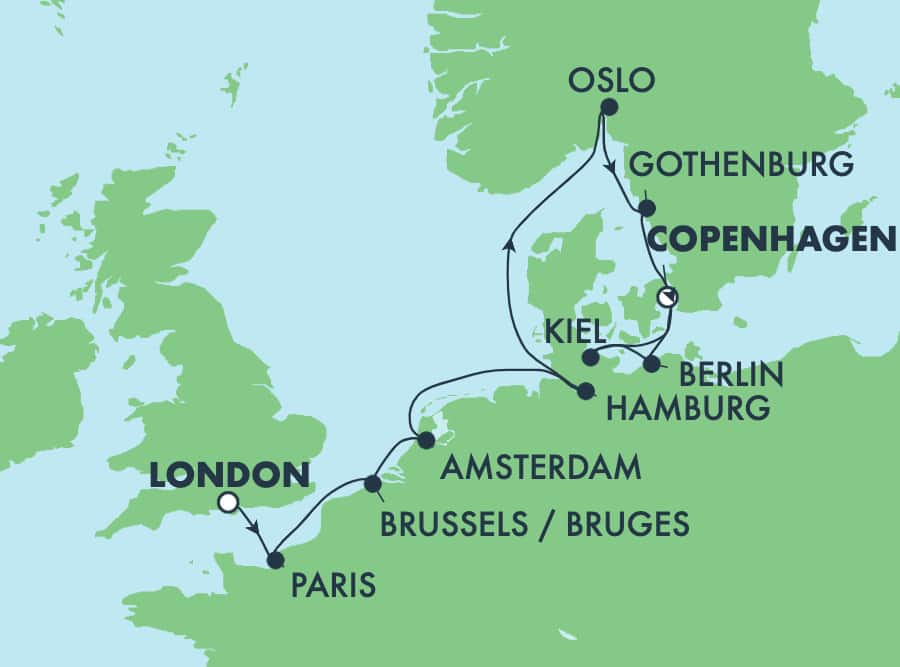 10-Day Europe from London to Copenhagen: France, Germany & Norway