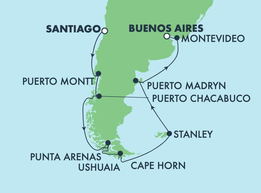 14-Day South America from Santiago to Buenos Aires: Argentina & Chile
