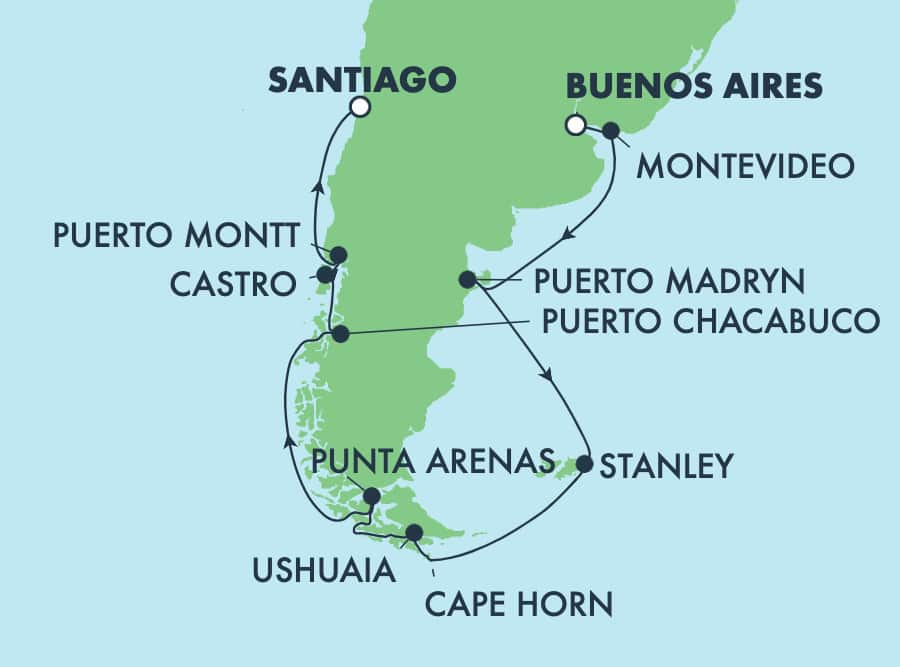 15-Day South America from Buenos Aires to Santiago