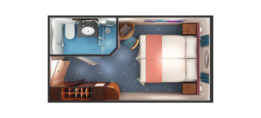 Floor plan Mid-Ship Oceanview Porthole Window