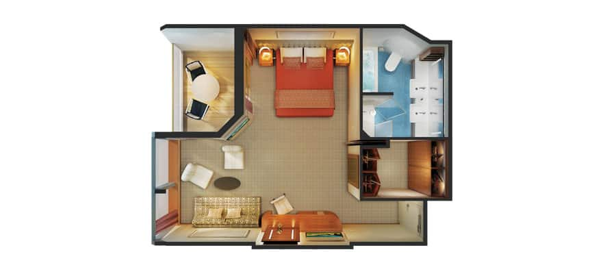 Floor plan Penthouse Suite with Balcony