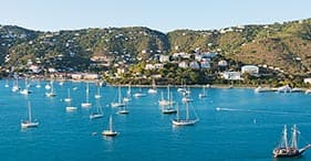 Panoramic Views of St. Thomas & Shopping