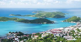 Panoramic St. Thomas Island & Overlooks
