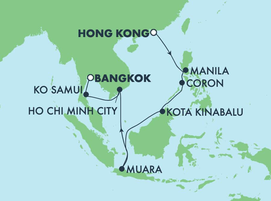 11-Day Asia from Hong Kong to Bangkok: Thailand, Philippines & Vietnam
