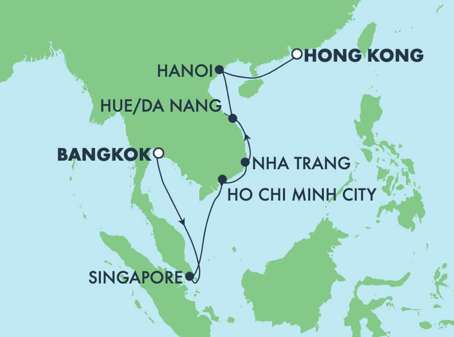 11-Day Asia from Bangkok to Hong Kong: Singapore & Vietnam