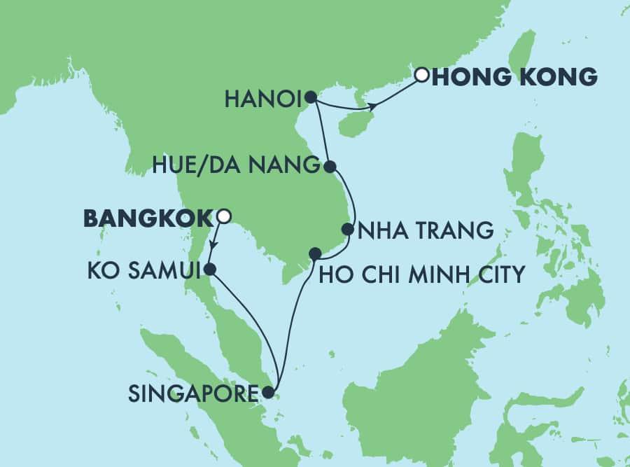 11-Day Asia from Bangkok to Hong Kong: Singapore, Thailand & Vietnam