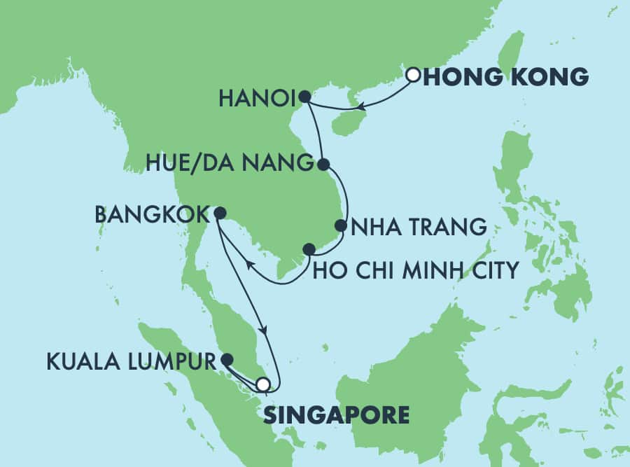 13-Day Asia from Hong Kong to Singapore: Da Nang & Nha Trang