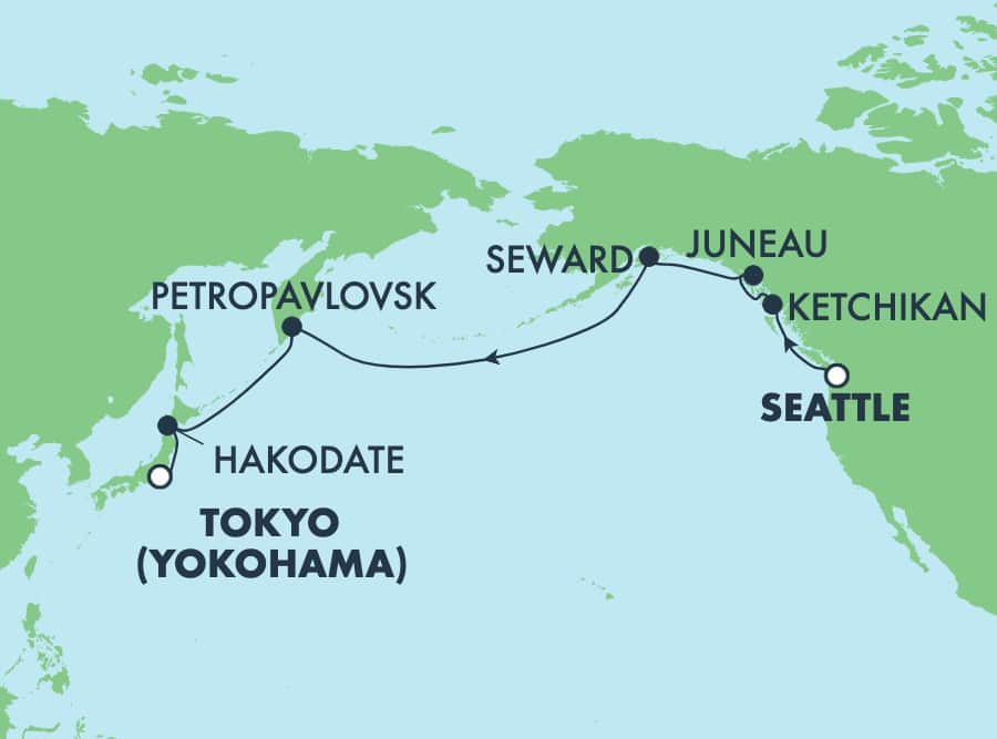 16-Day from Seattle to Tokyo: Alaska, Japan & Russia