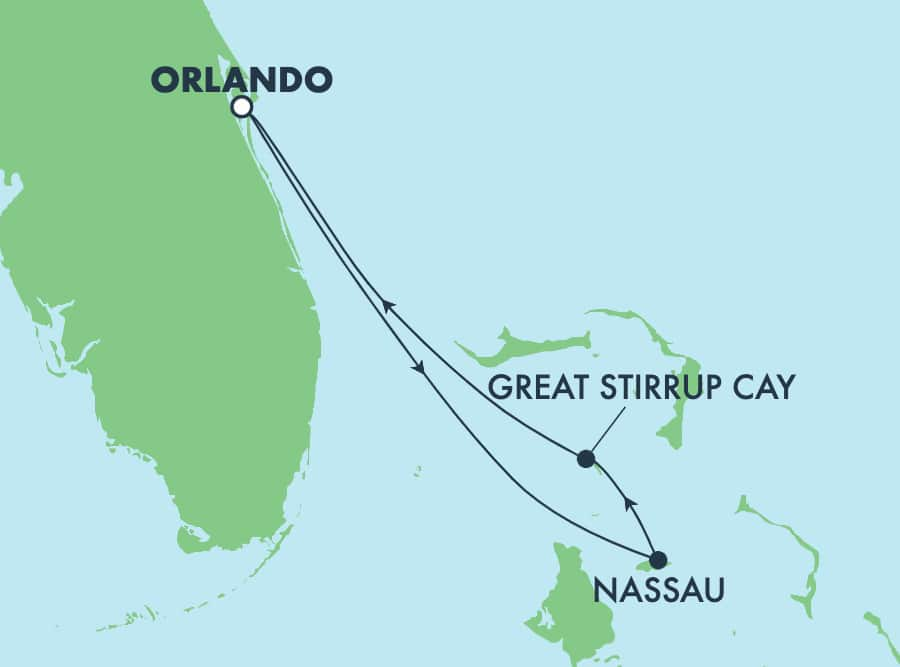 3-Day Bahamas Round-trip Orlando (Port Canaveral)