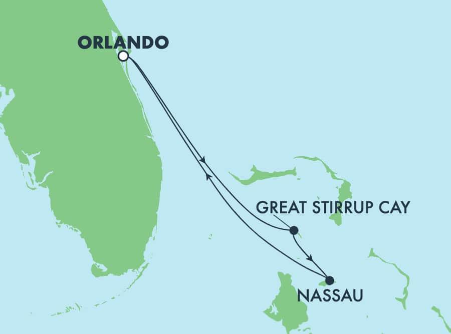 Bahamas, viaje de ida y vuelta desde Orlando (Puerto Cañaveral), 3 días
