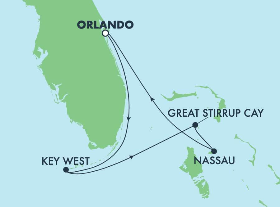 4-Day Bahamas & Florida Round-trip Orlando (Port Canaveral)