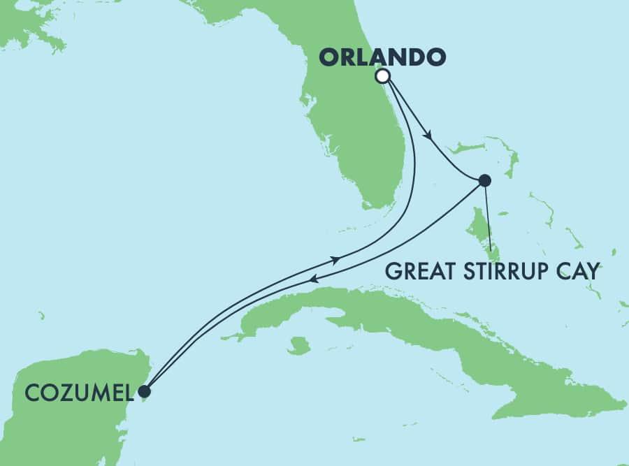 שייטהלוך ושובבן5 ימיםלאיים הקריביים מאורלנדו(נמלקנברל)