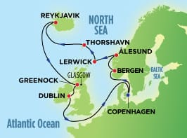 14-Day Norway, Iceland, & Faroe Islands from Copenhagen