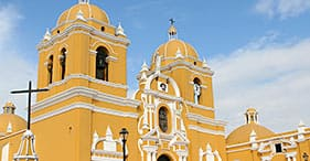 Visión general de Trujillo y templos moche