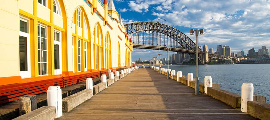 Boardwalk by Luna Park on Cruises to Sydney