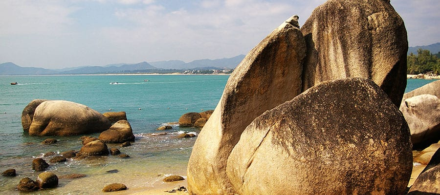 Beautiful beaches of  Sanya on your Asia cruise