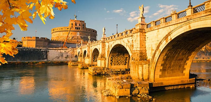 A walk to remember along the Tiber River in Rome.