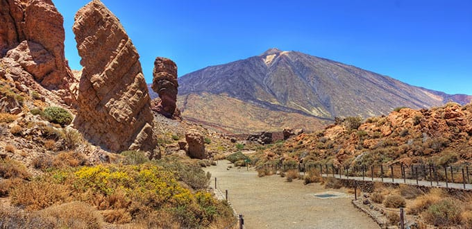 Featured in many Hollywood films, the immense Mount Teide will inspire you