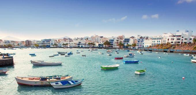 A storybook harbor awaits you in the Canary Islands