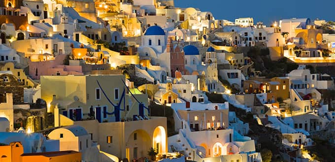 The colorful landscapes of Santorini will astound and impress