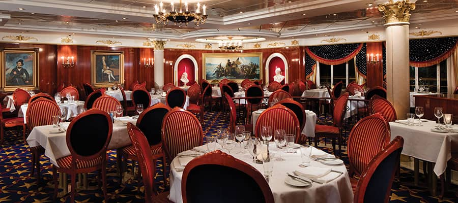 Dine in the Liberty main dining room on Pride of America