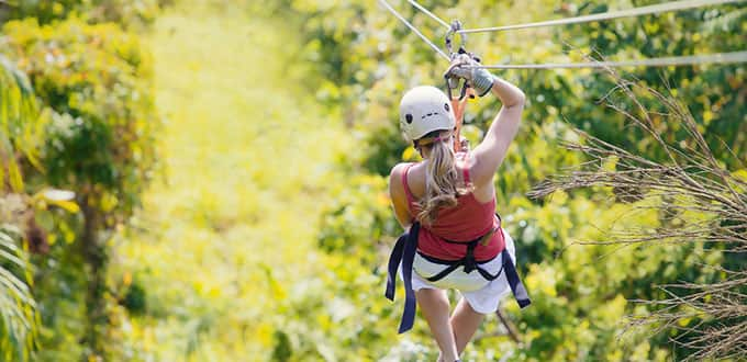Feel the adrenalyn surge with a jungle zipline experience