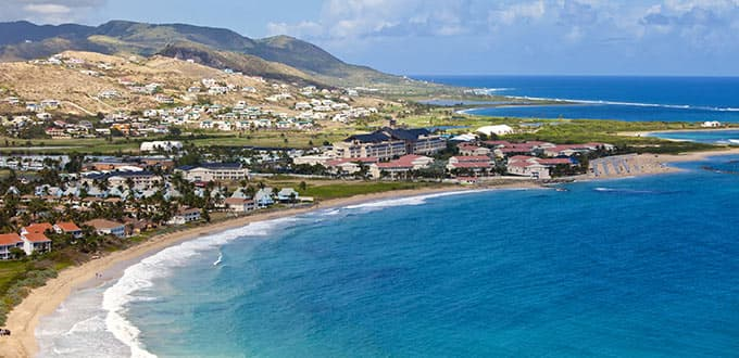 Cruise the dazzling coast line of St. Kitts