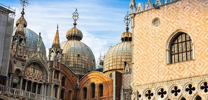 Marvel at the Basilica of San Marco in St. Marks square in Venice, Italy