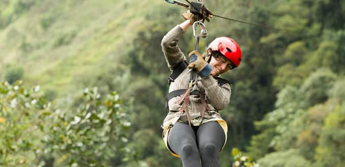 Experience the rush of the zip lining in St. Thomas