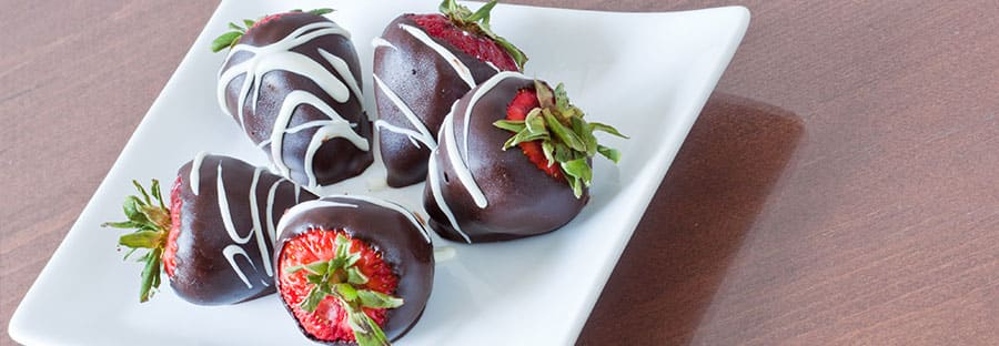 Fresh chocolate covered strawberries