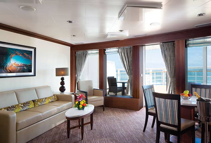 Owner's Suite Living Room on Pride of America