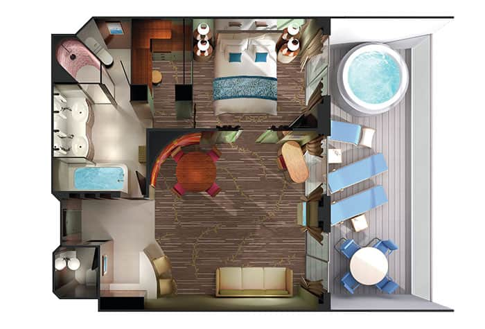 Owner's Suite Floor Plan on Pride of America