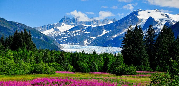 Take it in the beauty of Mendenhall Glacier