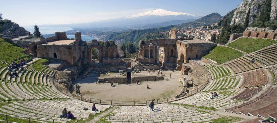 Taormina Theatre on Cruises to Taormina